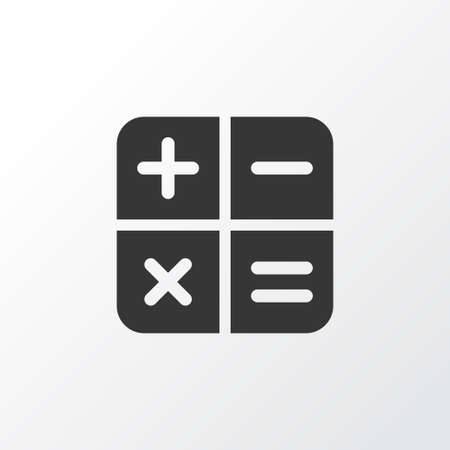 Calculator icon symbol. Premium quality isolated calculate element in trendy style.