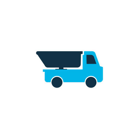 Truck icon colored symbol. Premium quality isolated dumper element in trendy style. Illustration