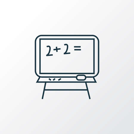 Blackboard icon line symbol. Premium quality isolated chalkboard element in trendy style.