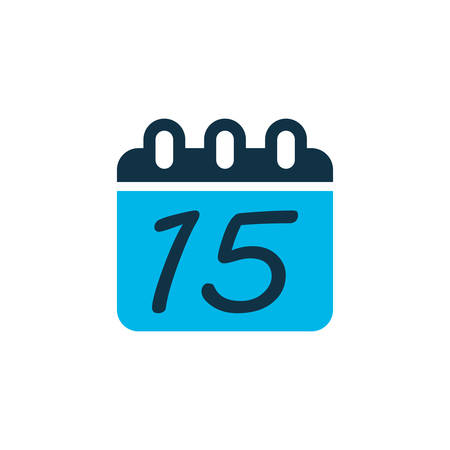 Calendar icon colored symbol. Premium quality isolated date element in trendy style.