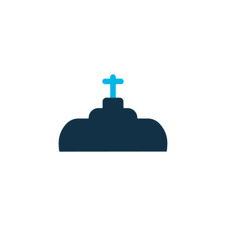 Plumbing icon colored symbol. Premium quality isolated valve element in trendy style. Illustration
