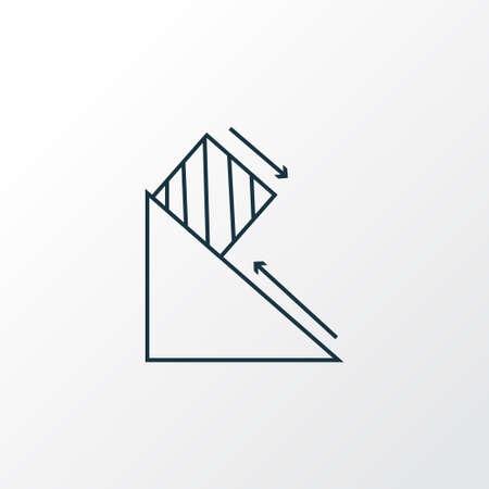 Símbolo de línea de icono de física. Elemento de fuerza de fricción aislado de primera calidad en un estilo moderno.