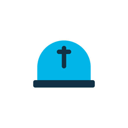 Cemetery icon coloured symbol.