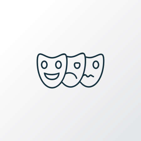 Acting icon line symbol. Premium quality isolated mask element in trendy style.