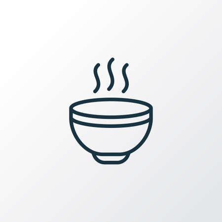 Hot soup icon line symbol. Premium quality isolated meal element in trendy style.