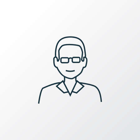 Male teacher icon line symbol. Premium quality isolated professor element in trendy style.
