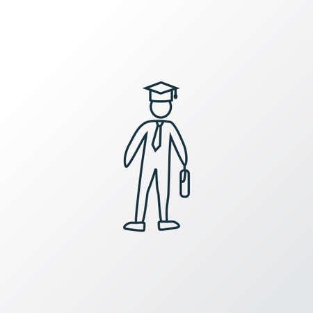 Símbolo de línea de icono de colegio. Elemento de soltero aislado de primera calidad en estilo moderno.