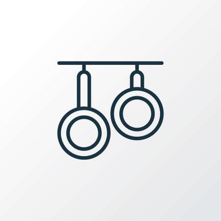 Pans icon line symbol. Premium quality isolated skillet element in trendy style. 版權商用圖片 - 110216281