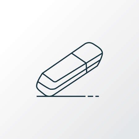 Simbolo di linea dell'icona di gomma. Elemento in gomma isolato di qualità Premium in stile alla moda.