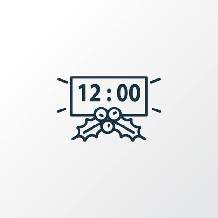New year countdown icon line symbol. Premium quality isolated timer element in trendy style.