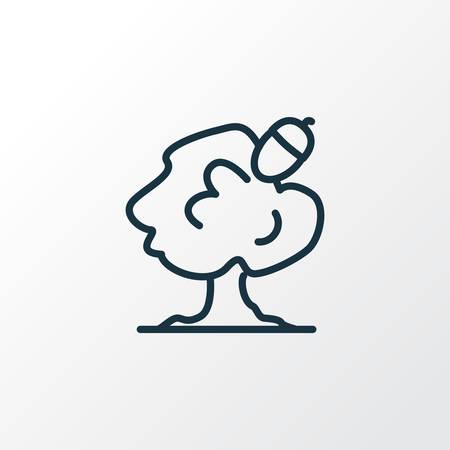 Oak icon line symbol. Premium quality isolated acorn element in trendy style.