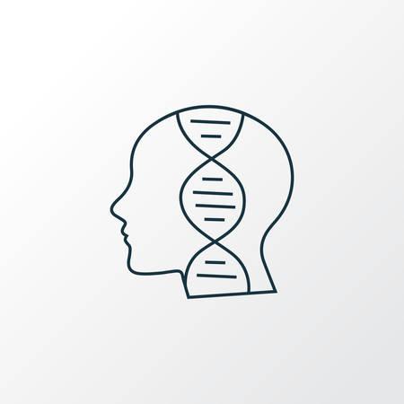 Genetics icon line symbol. Premium quality isolated biology element in trendy style.