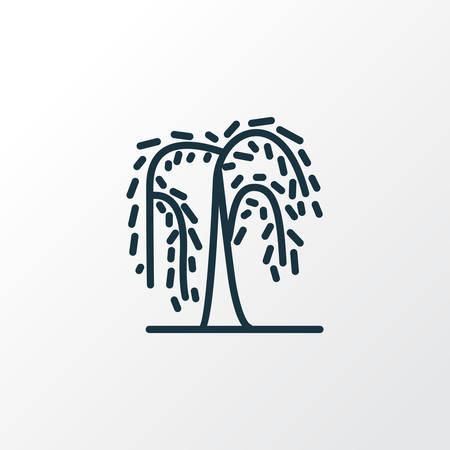 Symbole de ligne d'icône de saule. Élément de forêt isolé de qualité Premium dans un style branché.