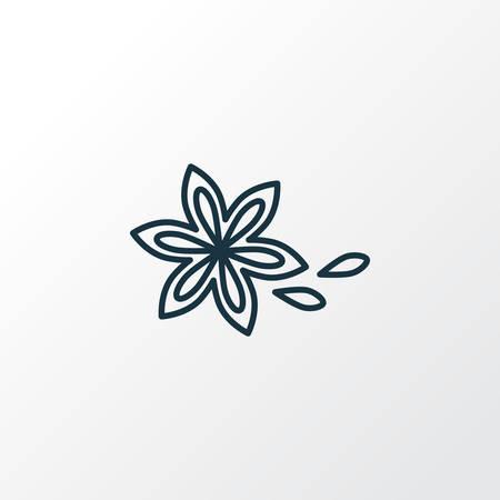 Sternanis Symbol Liniensymbol. Hochwertiges isoliertes Zimtelement im trendigen Stil. Vektorgrafik