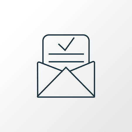 Admission letter icon line symbol. Premium quality isolated accepted mail element in trendy style.
