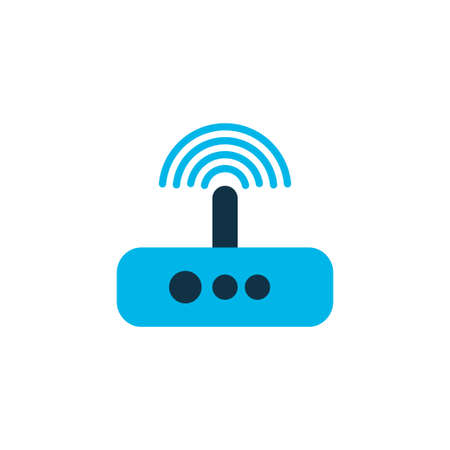 Modem icon colored symbol. Premium quality isolated router element in trendy style.