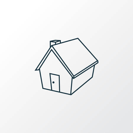 Small hut icon line symbol. Premium quality isolated home element in trendy style.
