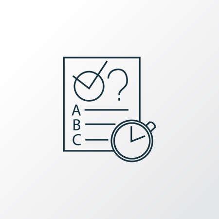 Symbole de ligne d'icône de quiz. Élément d'examen isolé de qualité Premium dans un style branché. Vecteurs