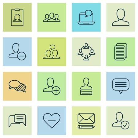 Social icons set with delete, notification, messaging and other delete elements. Isolated vector illustration social icons.
