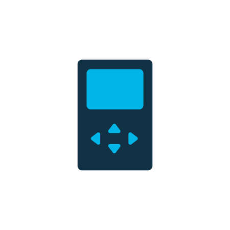 Player icon colored symbol. Premium quality isolated mp3 element in trendy style.