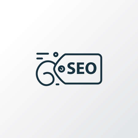 SEO tag icon line symbol. Premium quality isolated label element in trendy style. Illusztráció