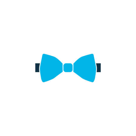 Bow tie icon colored symbol. Premium quality isolated necktie element in trendy style.