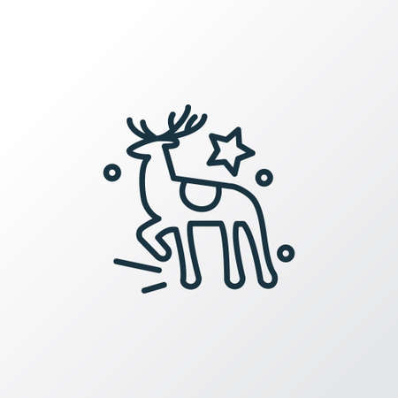 Reindeer icon line symbol. Premium quality isolated deer element in trendy style.