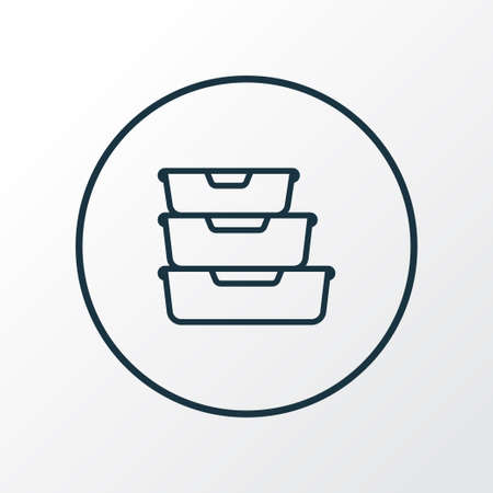 Food containers icon line symbol. Premium quality isolated storage element in trendy style.