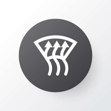 Windscreen defrost icon symbol. Premium quality isolated optimization element in trendy style.