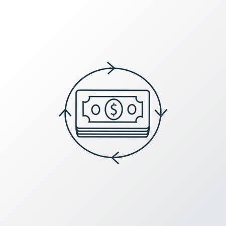 Money flow icon line symbol. Premium quality isolated revenue element in trendy style. Reklamní fotografie