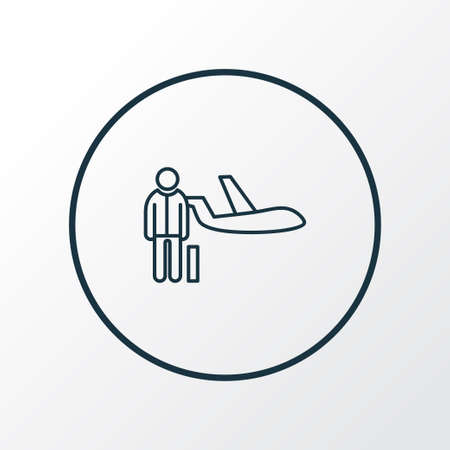 Personal plane icon line symbol. Premium quality isolated passenger element in trendy style.  イラスト・ベクター素材