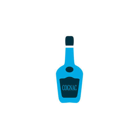 Cognac icon colored symbol. Premium quality isolated vodka bottle element in trendy style.