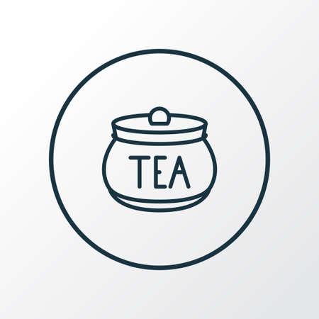 Tea container icon line symbol. Premium quality isolated jar element in trendy style.