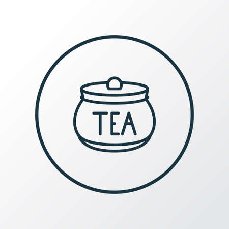 Tea container icon line symbol. Premium quality isolated jar element in trendy style.