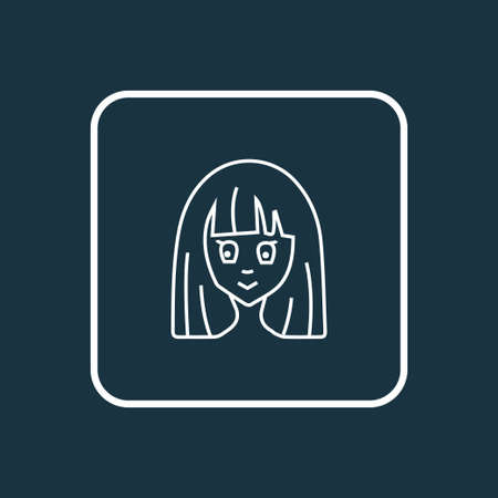 Anime icon line symbol. Premium quality isolated cartoon element in trendy style.  イラスト・ベクター素材