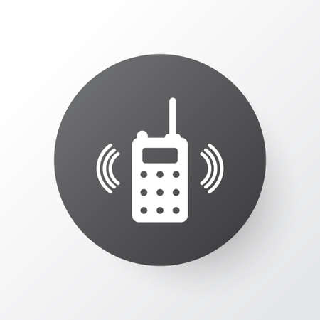 Walkie-talkie icon symbol. Premium quality isolated portable radio element in trendy style.