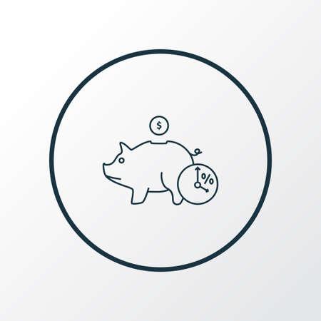Deposit icon line symbol. Premium quality isolated moneybox element in trendy style.