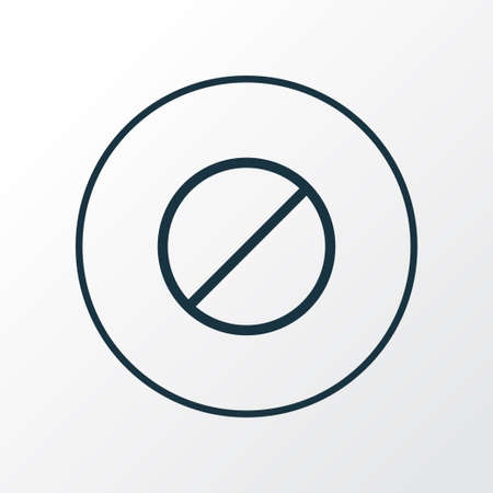 Forbidden icon line symbol. Premium quality isolated ban element in trendy style. Stock Photo