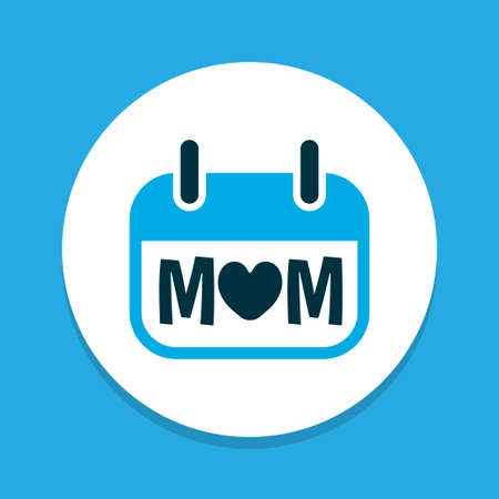 Holiday icon colored symbol. Premium quality isolated mothers day element in trendy style.  イラスト・ベクター素材
