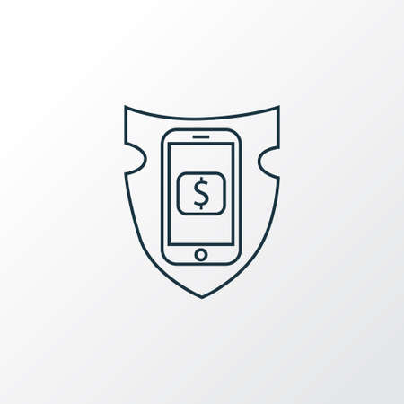 Secure payment icon line symbol. Premium quality isolated financial insurance element in trendy style.