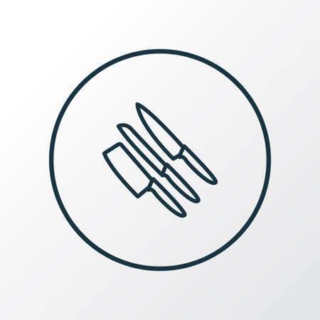 Knife set icon line symbol. Premium quality isolated sharp element in trendy style.