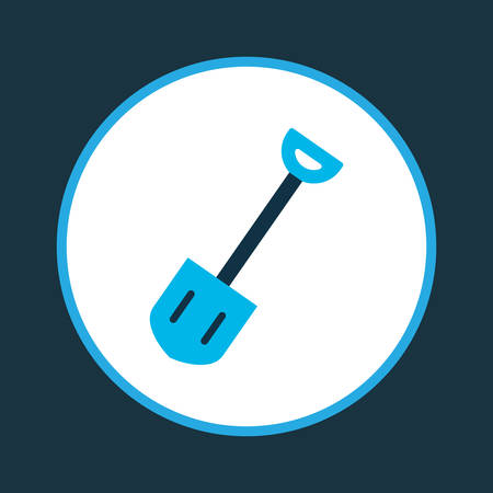 Shovel icon colored symbol. Premium quality isolated spade element in trendy style.