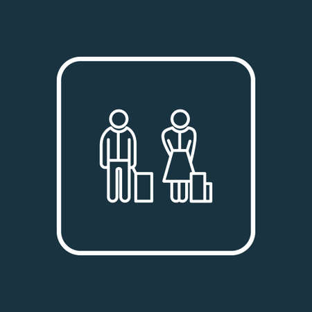 Passenger icon line symbol. Premium quality isolated people element in trendy style.