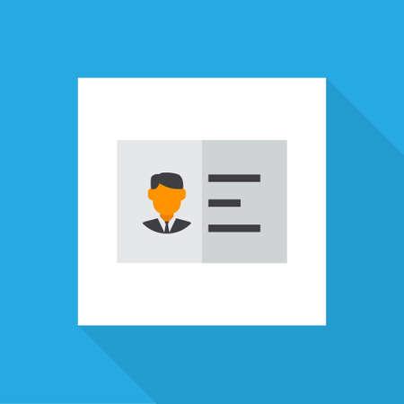 Authentication icon flat symbol. Premium quality isolated identification element in trendy style. Illustration