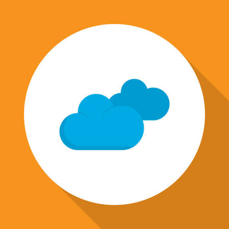 Clouds icon flat symbol. Premium quality isolated overcast element in trendy style.