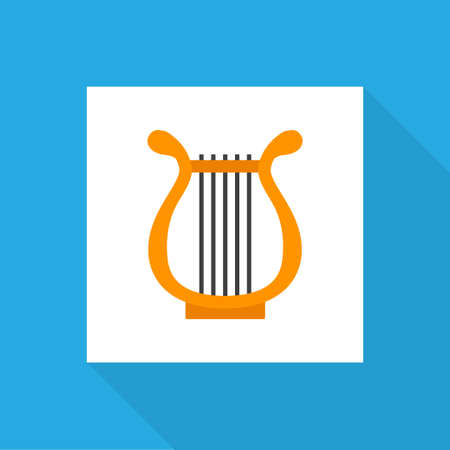 Philharmonic icon flat symbol. Premium quality isolated sonata element in trendy style. Banque d'images - 127429809