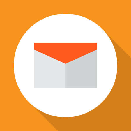 Mail icon flat symbol. Premium quality isolated envelope element in trendy style.