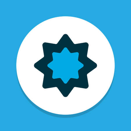 Rub el hizb icon colored symbol. Premium quality isolated octagonal star element in trendy style.