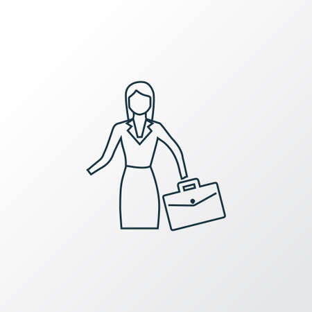 Businesswoman icon line symbol. Premium quality isolated job woman element in trendy style. Stockfoto - 127245797