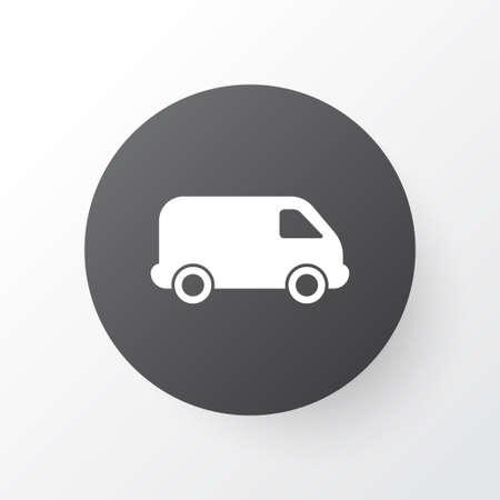 Van icon symbol. Premium quality isolated lorry element in trendy style.